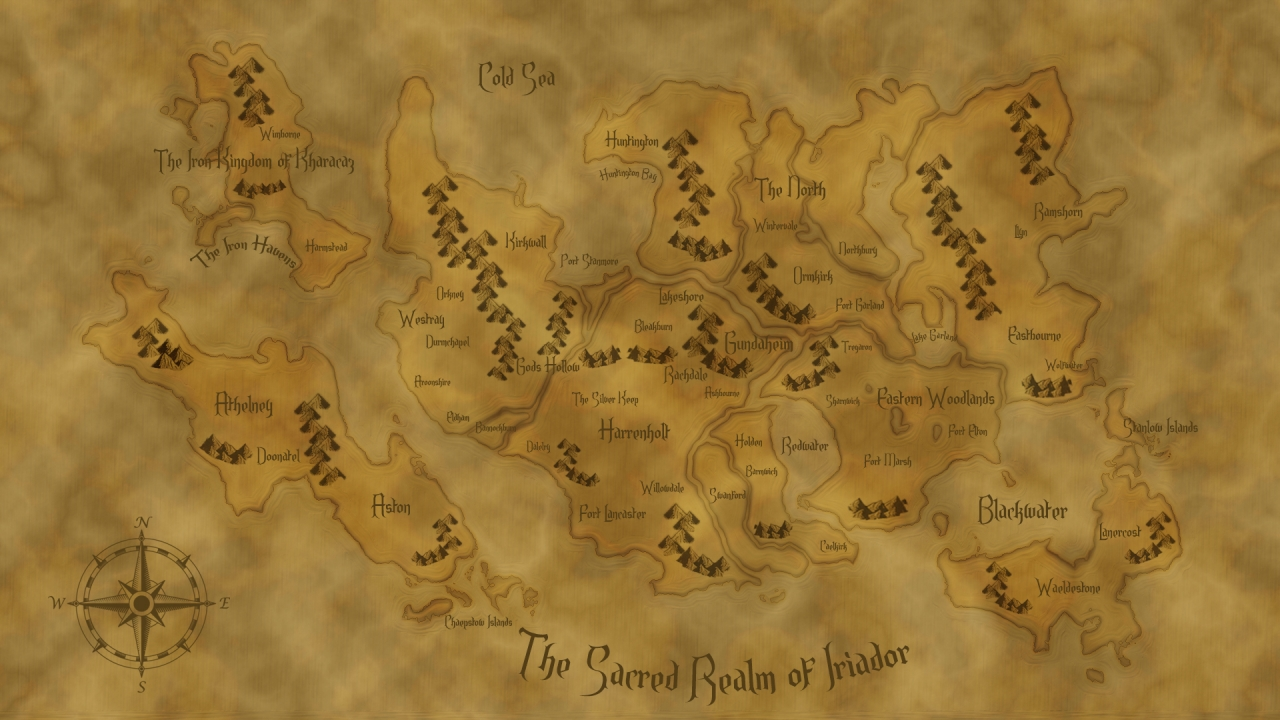The Sacred Realm of Iriador - Map